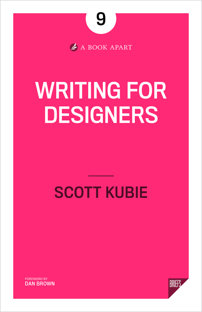 Cover image of the book Writing for Designers.